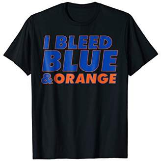 I Bleed Blue and Orange t-shirt for sports fan