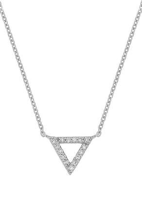 Carriere JEWELRY Triangle Diamond Pendant Necklace