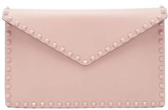 Valentino Rockstud Leather Pouch - Womens - Nude