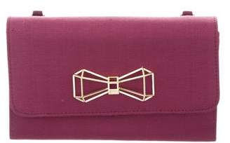 Ted Baker Bow-Accented Flap Clutch