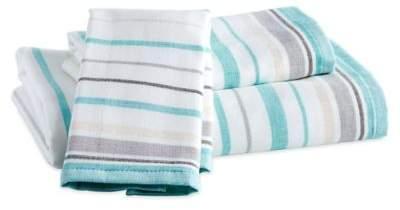 Destinations Sea Reef Stripe Hand Towel in Blue
