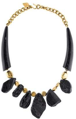 Ashley Pittman Black Tourmaline & Horn Mabavu Necklace