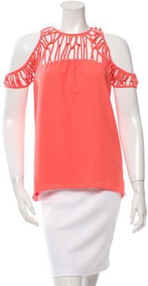Nicole Miller Ladder Crew Neck Top w/ Tags $75 thestylecure.com