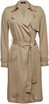 Theory Oaklane Silk Trench Coat