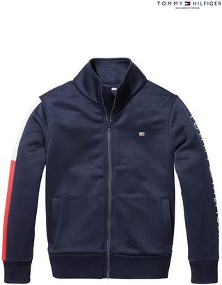 Next Boys Tommy Hilfiger Boys Blue Sports Track Jacket