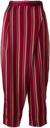 Antonio Marras foldover striped trousers