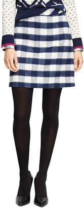 Brooks Brothers Wool Blend Buffalo Check Pencil Skirt