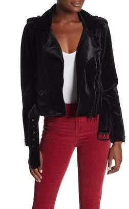 Blank NYC BLANKNYC Denim Velvet Moto Jacket