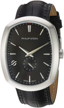 Philip Stein Teslar Men's 72-CBK-CSTAB Modern Analog Display Swiss Quartz Watch