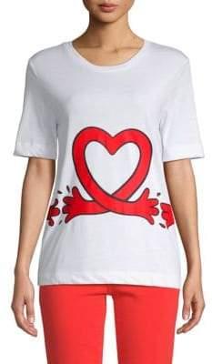 Love Moschino Printed Cotton Top