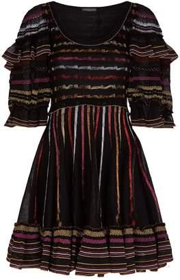 Alexander McQueen Lurex Stripe Mini Dress