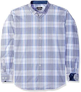 Bugatchi Men's Fittted Tartan Plaid Button Down Long Sleeve Shirt