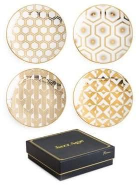 Rosanna Jazz Age Deco Appetizer Plates - Set of 4