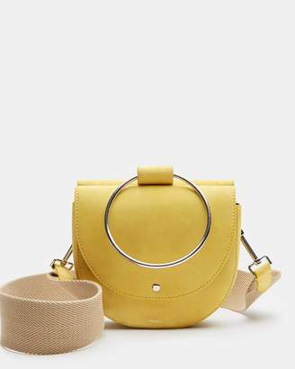Theory Whitney Bag With Webbing Strap in Suede