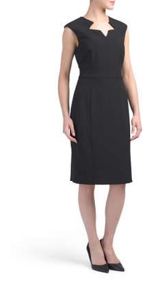 Cut Out Neckline Sheath Dress