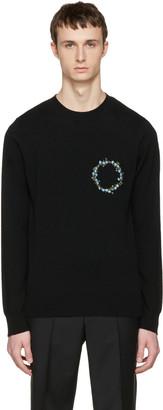 Givenchy Black Cashmere Floral Crest Pullover $1,190 thestylecure.com