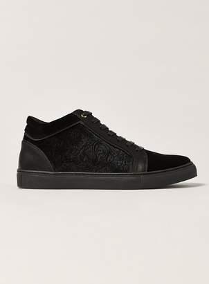 Black Velvet Hi Top Boots