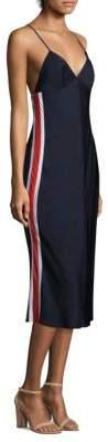 Milly Racer Stripe Slip Dress