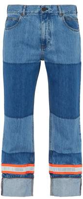 Calvin Klein Reflective Panel Cotton Jeans - Mens - Blue