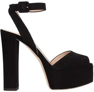 d8971fd15d0d Giuseppe Zanotti Betty Black Suede Platform Sandals