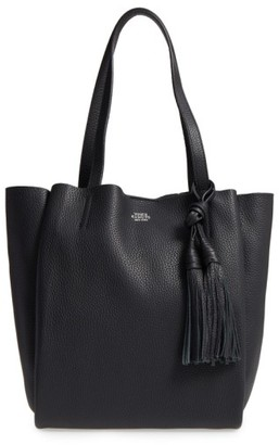 Vince Camuto Small Taja Leather Tote With Tassel Charm - Black $248 thestylecure.com