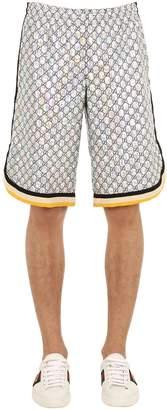 Gucci Gg Supreme Logo Jersey Shorts