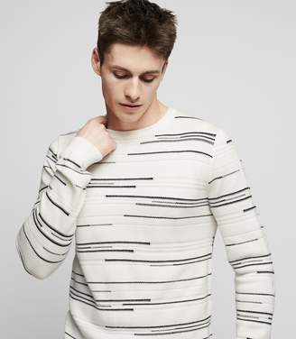 Reiss SMITHSON Striped jumper Ecru
