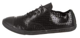 Prada Sport Perforated Patent Leather Sneakers