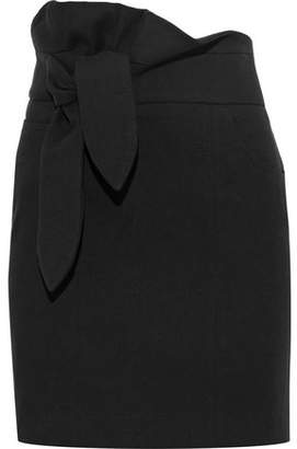 IRO Katmore Tie-Front Cotton-Blend Mini Skirt