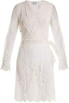 Carine Gilson Floral-lace wrap dress