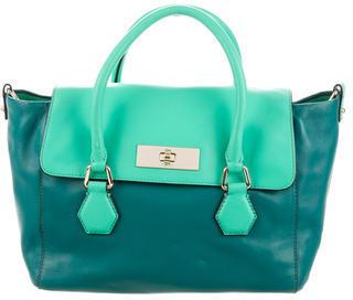 Kate Spade New York Bicolor Leather Satchel $125 thestylecure.com