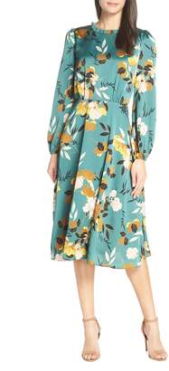 Chelsea28 Floral Print Ruffle Neck Dress