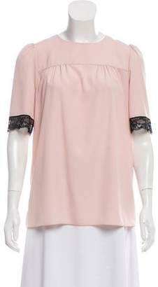 Marc Jacobs Lace-Trimmed Short Sleeve Top w/ Tags