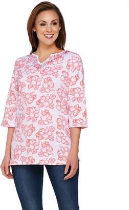 Factory Quacker Island Floral 3/4 Sleeve Tunic