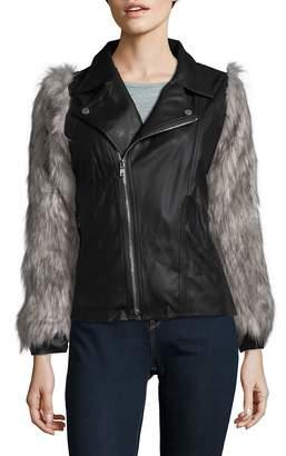 Goldie Women's Silence Faux-Fur Sleeve Jacket