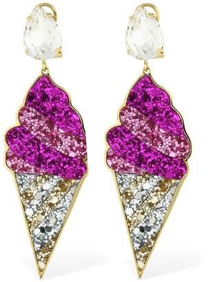 Shourouk Glitter & Swarovski Gelato Earrings