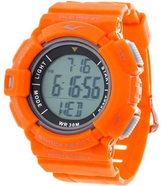 Everlast HR4 Heart Rate Monitor Watch with Transmitter Belt, Orange Plastic Band