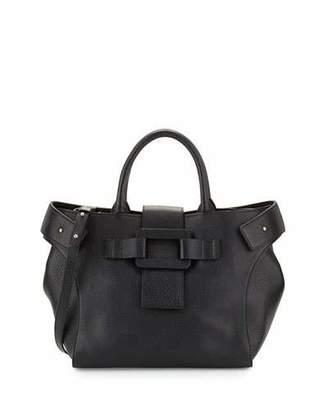 Roger Vivier Pilgrim de Jour Medium Leather Shopping Tote Bag