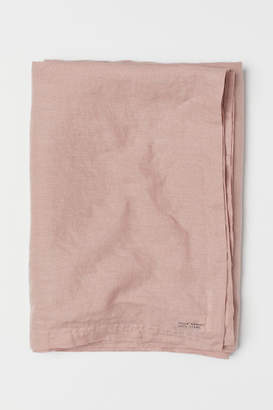 H&M Washed Linen Tablecloth - Pink