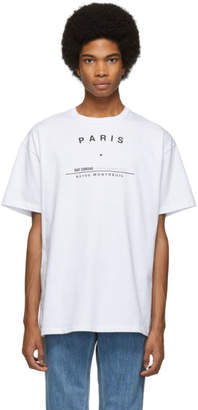 Raf Simons White Tour Big Fit T-Shirt
