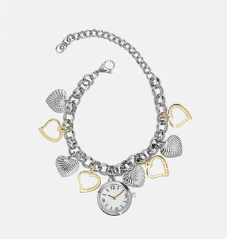 Avenue Tonal Heart Charm Bracelet Watch