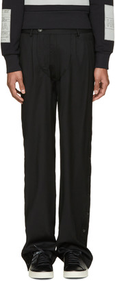 Hood by Air Black Suiting Snappers Trousers $710 thestylecure.com