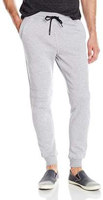 Southpole Men's Jogger Pant With Moto Biker Details On Knees