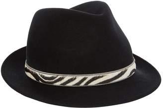 Philip Treacy Unicorn Pin Trilby Hat