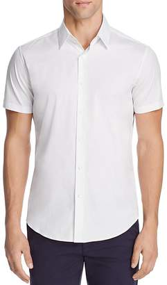 Theory Sylvain Wealth Short Sleeve Slim Fit Button-Down Shirt $175 thestylecure.com