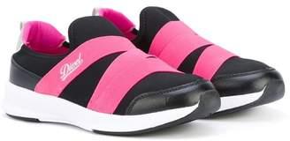 Diesel strapped sneakers