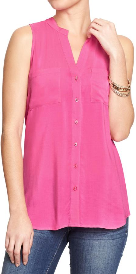 Old Navy Women's Sleeveless Button-Front Tops