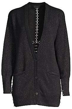 RtA Women's Oneil Metallic Cotton Cardigan