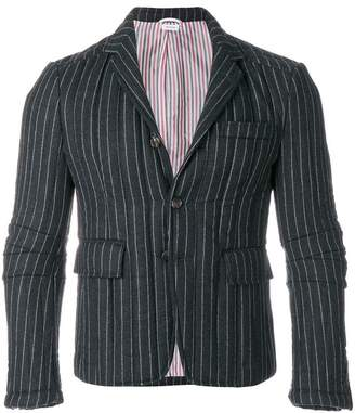 Thom Browne Articulated Chalk-Striped Flannel Sport Coat