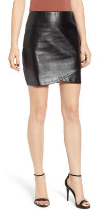 Bishop + Young BISHOP AND YOUNG Faux Leather Miniskirt
